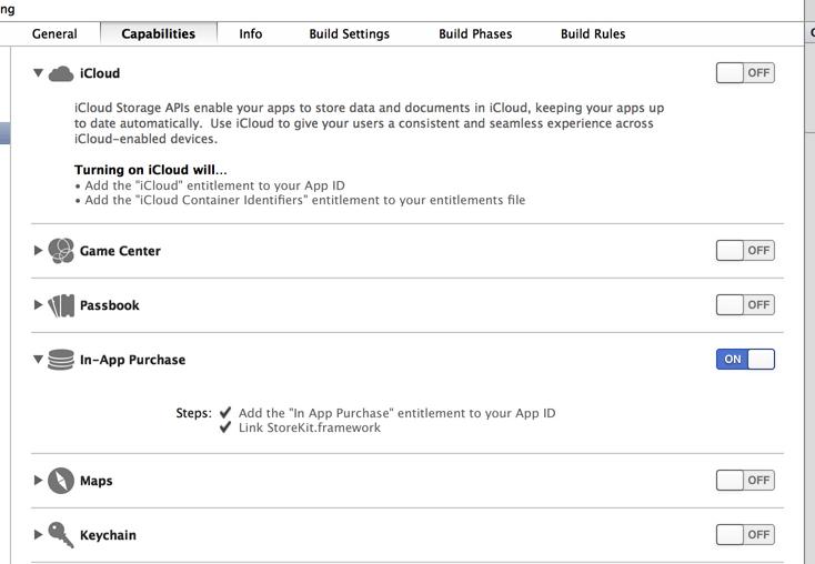 Xcode5的Capabilities