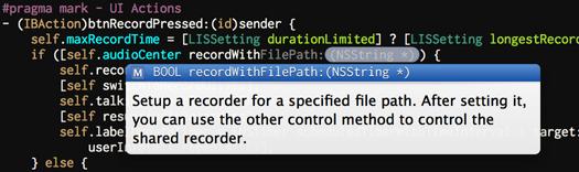 Xcode对代码注释的解析
